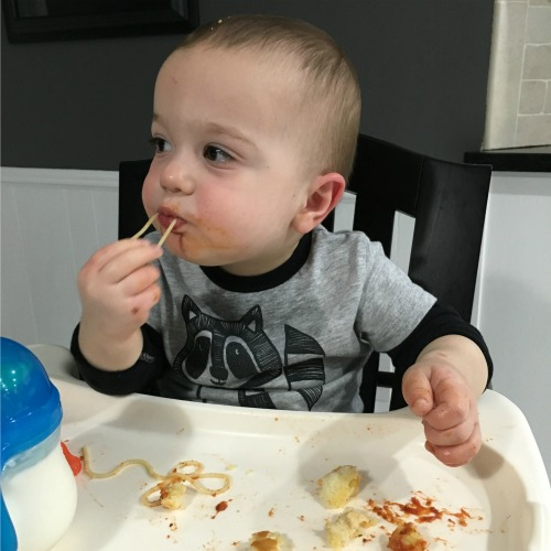 Gavin eating spaghetti | rainerlife.com