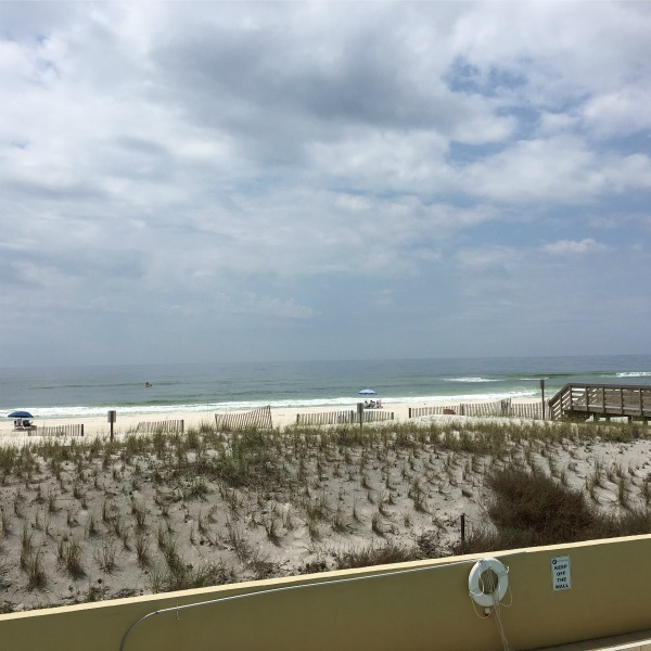 View from our balcony {Okaloosa Island} | rainerlife.com