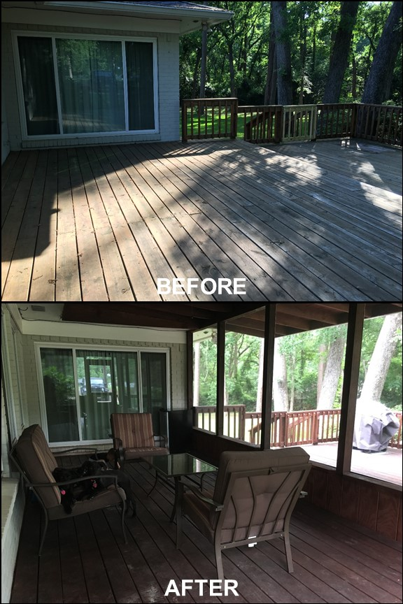 Backyard Deck {Before & After} | rainerlife.com