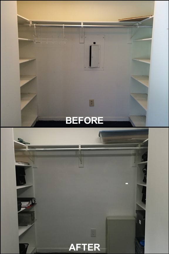 Home Office Closet {Before & After} | rainerlife.com