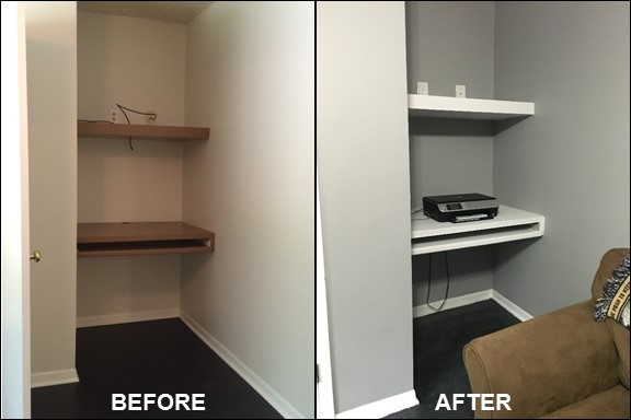 Home Office {Before & After} | rainerlife.com