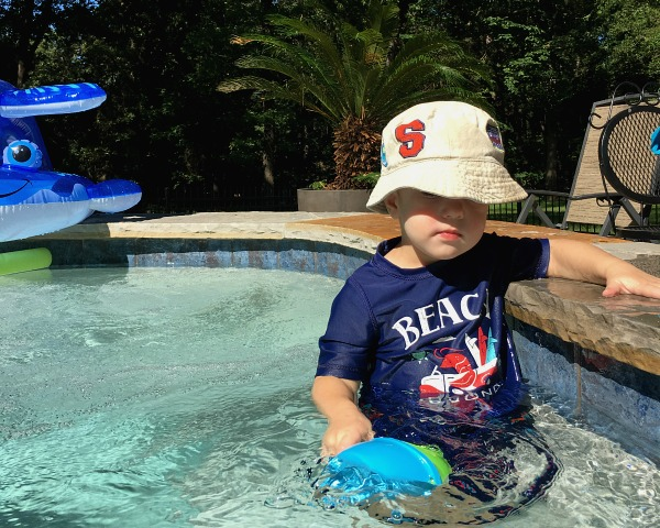 Gavin in the Pool | rainerlife.com