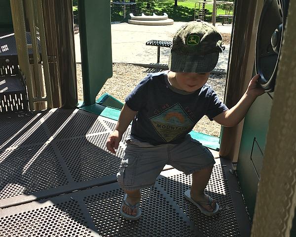 Gavin dancing at the playground | rainerlife.com