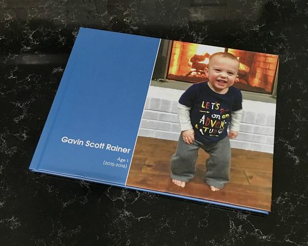 Gavin's Age 1 photo book | rainerlife.com