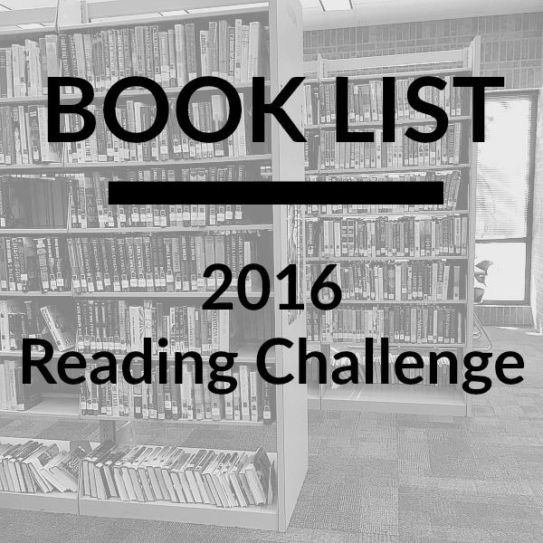 2016 Reading Challenge Book List | rainerlife.com