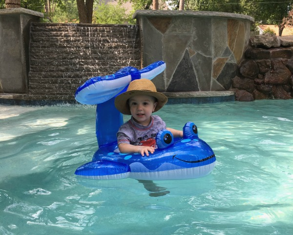 Gavin in the new pool | rainerlife.com