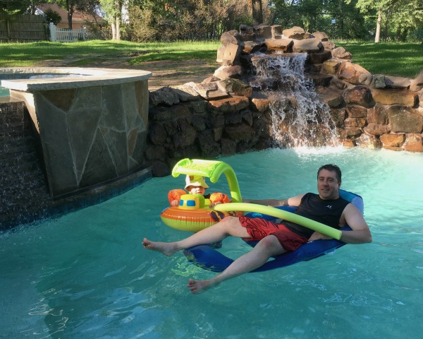 Gavin and Michael in the new pool | rainerlife.com