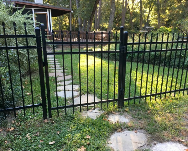 Gate on fence | rainerlife.com