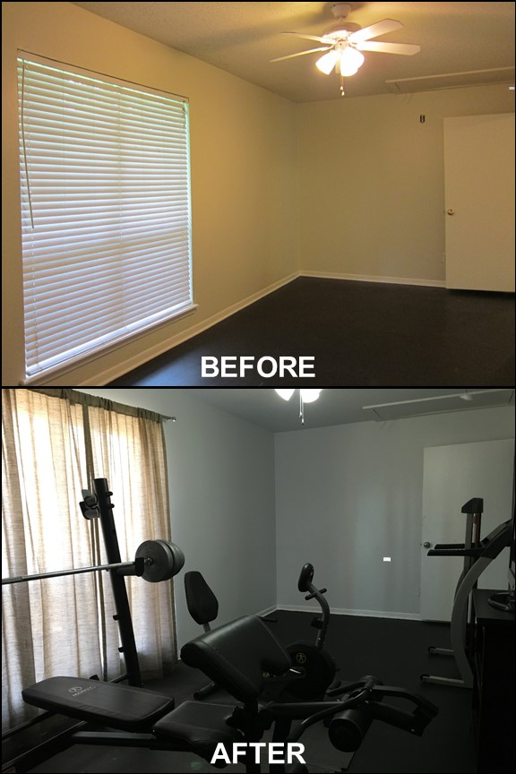 Home Gym {Before & After} | rainerlife.com