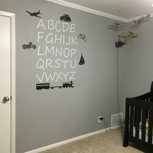 Wall art in Gavin's room | rainerlife.com