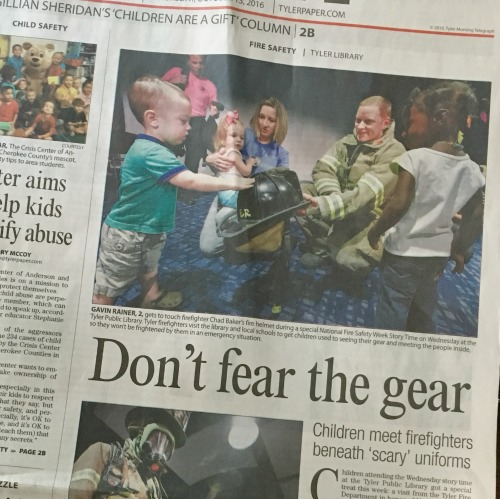 Gavin in the newspaper | rainerlife.com