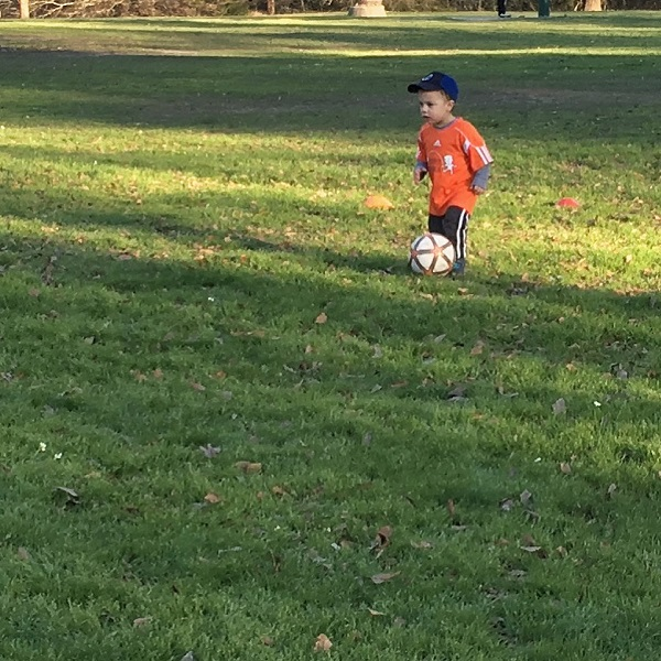 Gavin playing soccer | rainerlife.com