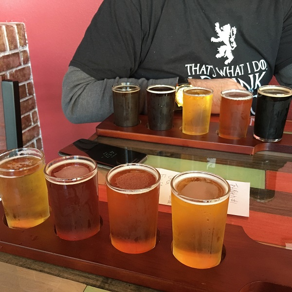 Beers at ETX Brewing Co. | rainerlife.com