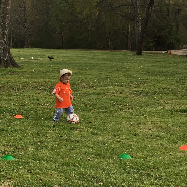 Gavin at soccer class | rainerlife.com