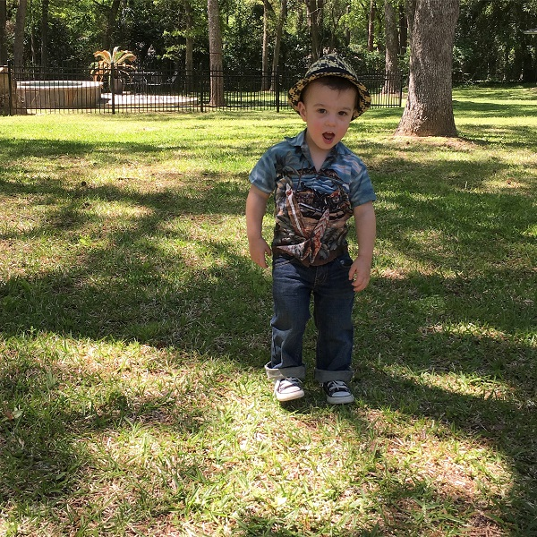 Gavin playing outside | rainerlife.com