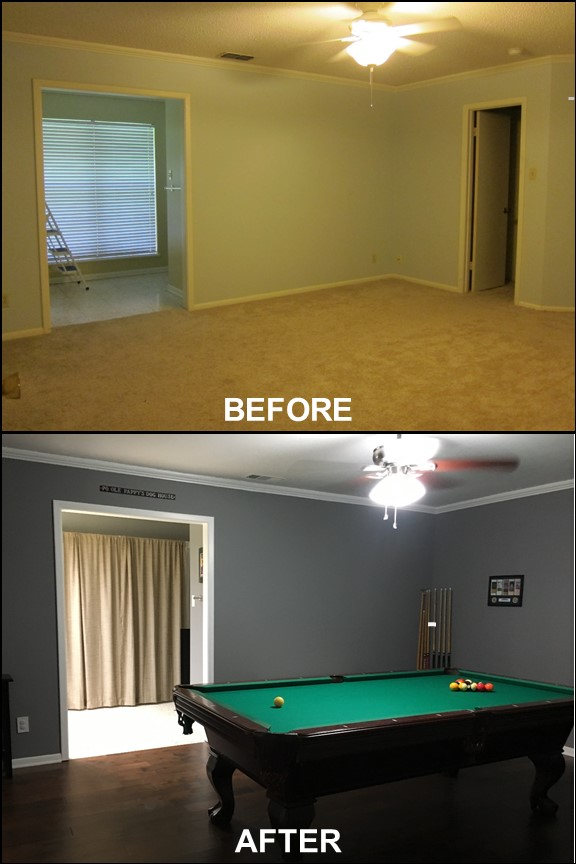 Game Room {Before & After} | rainerlife.com