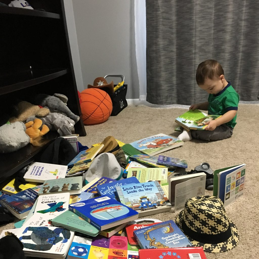Gavin reading his books | rainerlife.com