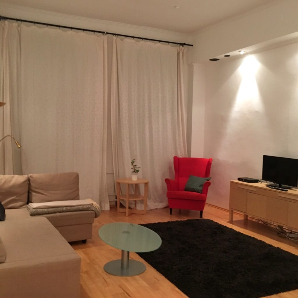 Living area at Heidelberg Airbnb | rainerlife.com