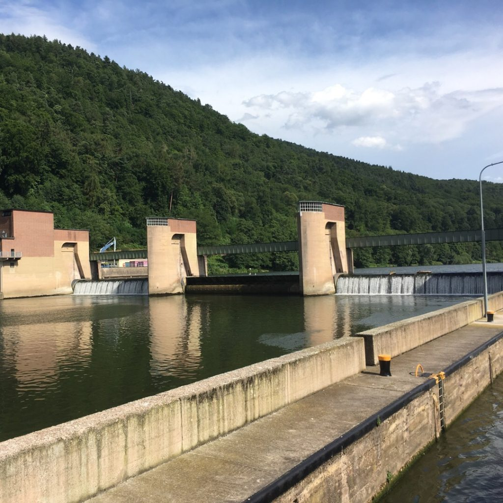 Dam on Neckar River | rainerlife.com