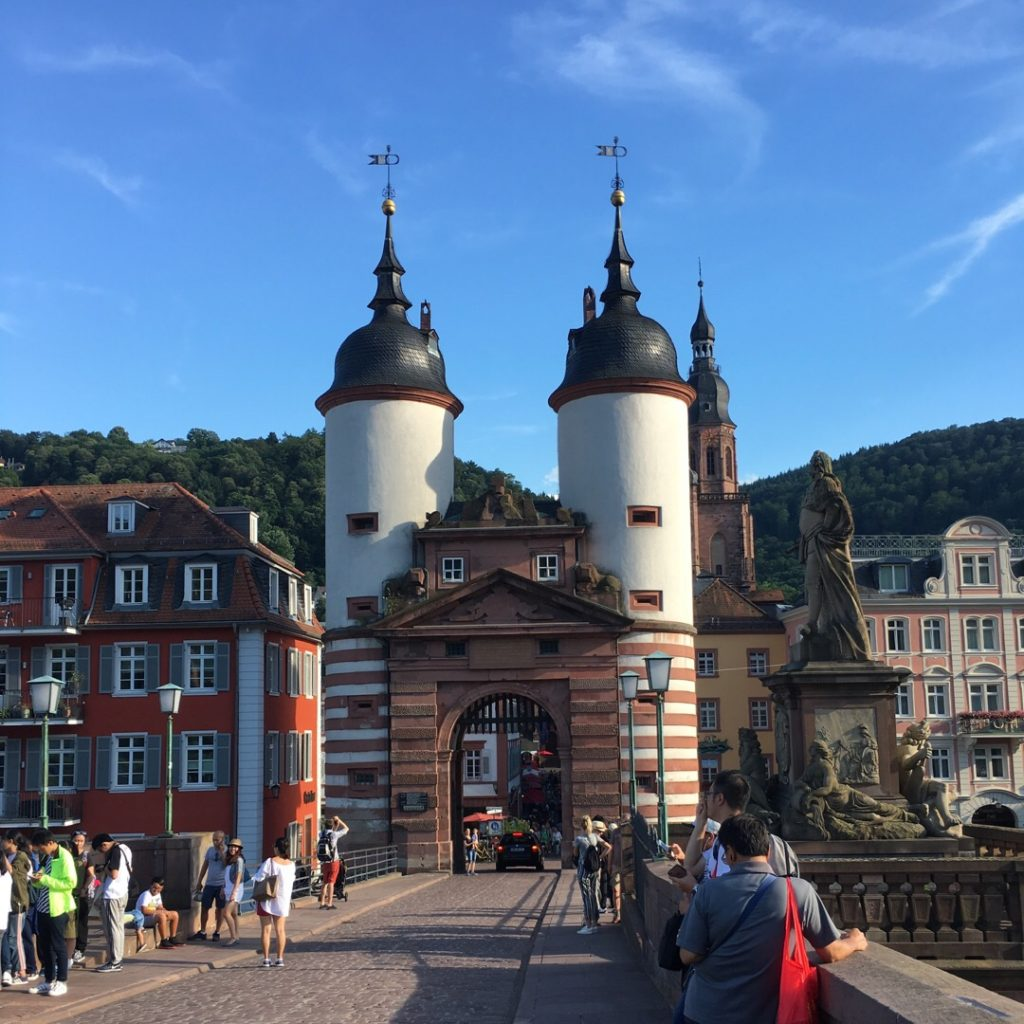 Bridge Gate on the Old Bridge in Heidelberg | rainerlife.com