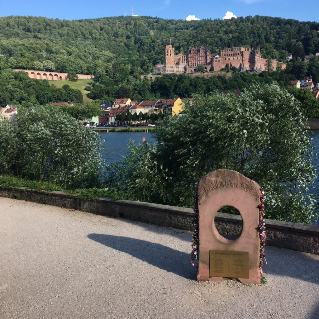 Love locks at end of Old Bridge {Heidelberg, Germany} | rainerlife.com