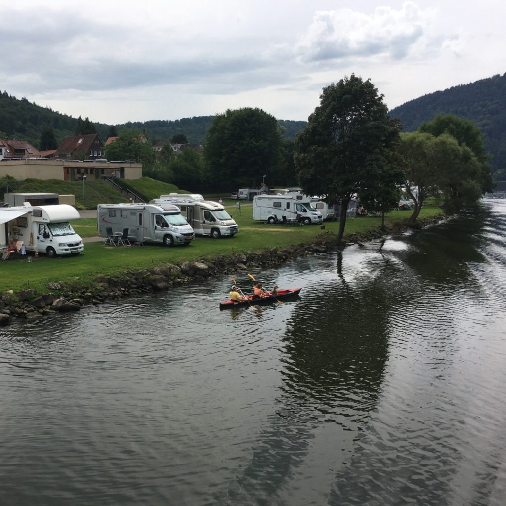 Campers along Neckar River | rainerlife.com