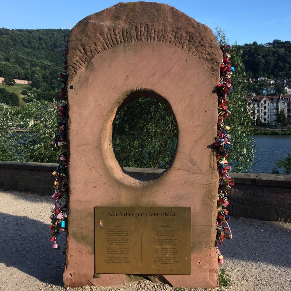 Love Locks near the Old Bridge {Heidelberg, Germany} | rainerlife.com