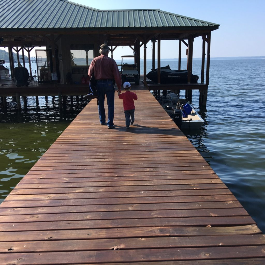 Gavin and his Pappaw going fishing | rainerlife.com