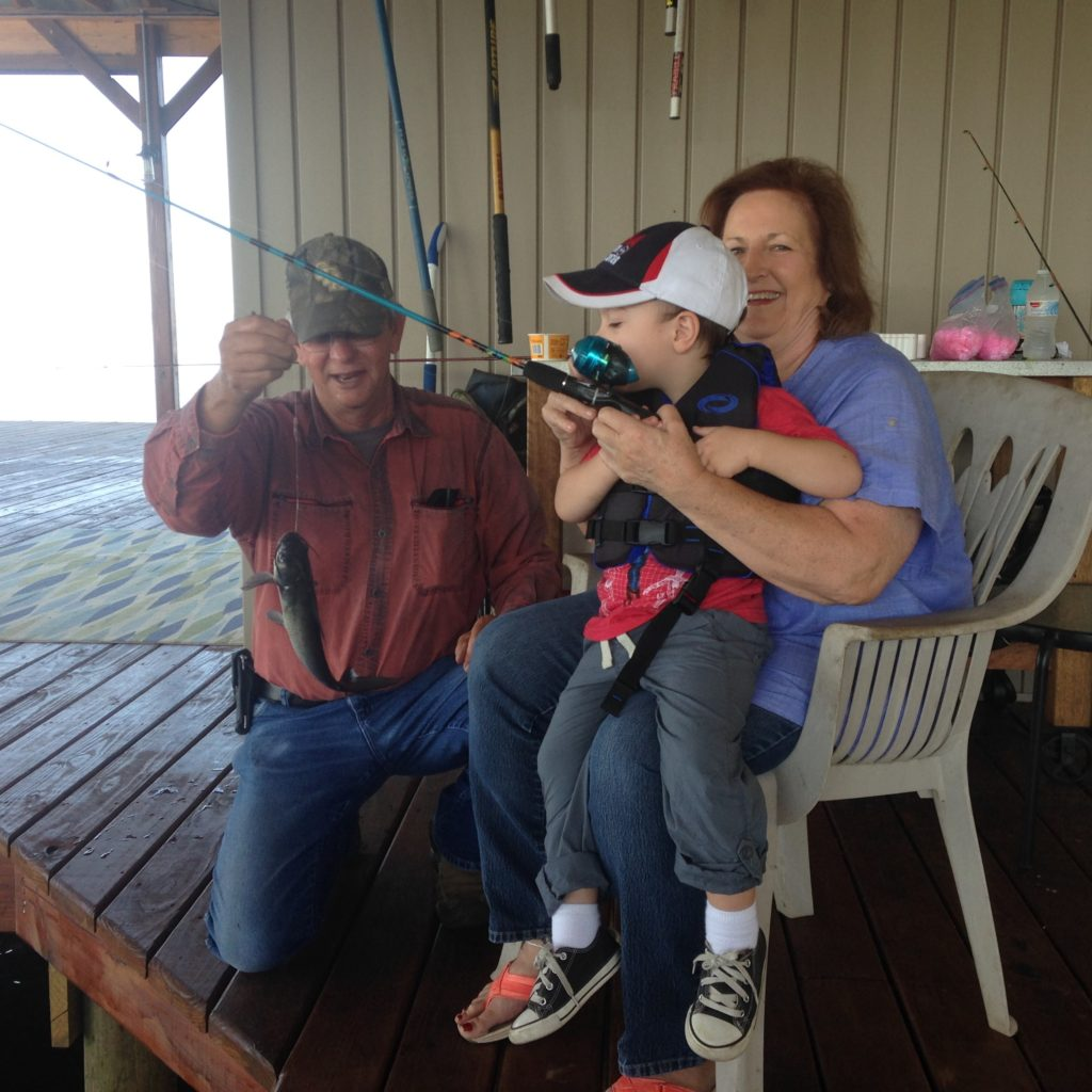 Gavin fishing with his Honey and Pappaw | rainerlife.com