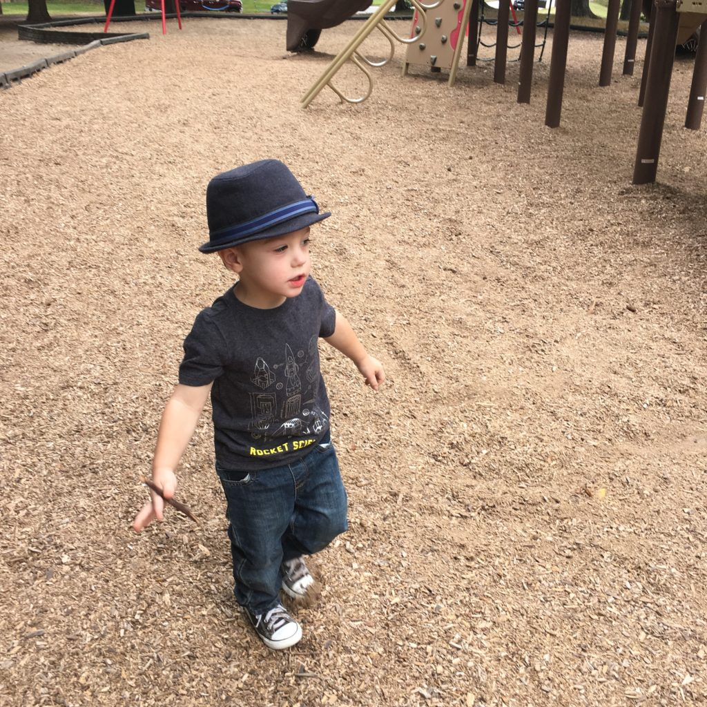 Gavin at a playground | rainerlife.com