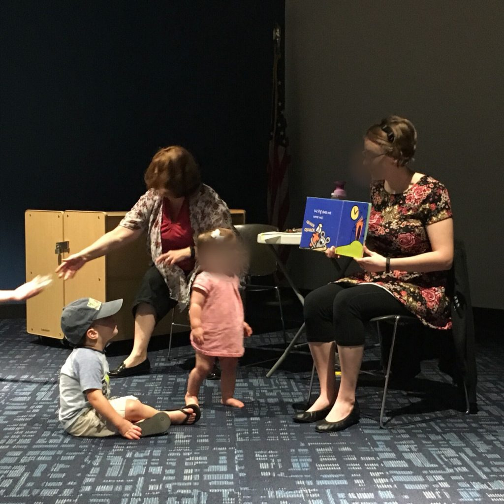 Gavin front and center at storytime | rainerlife.com
