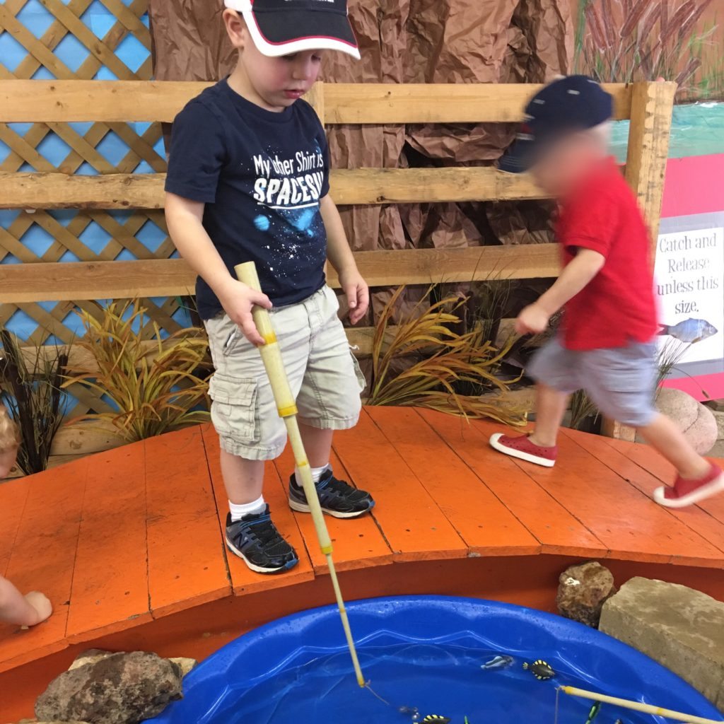 Gavin fishing at the Fair | rainerlife.com