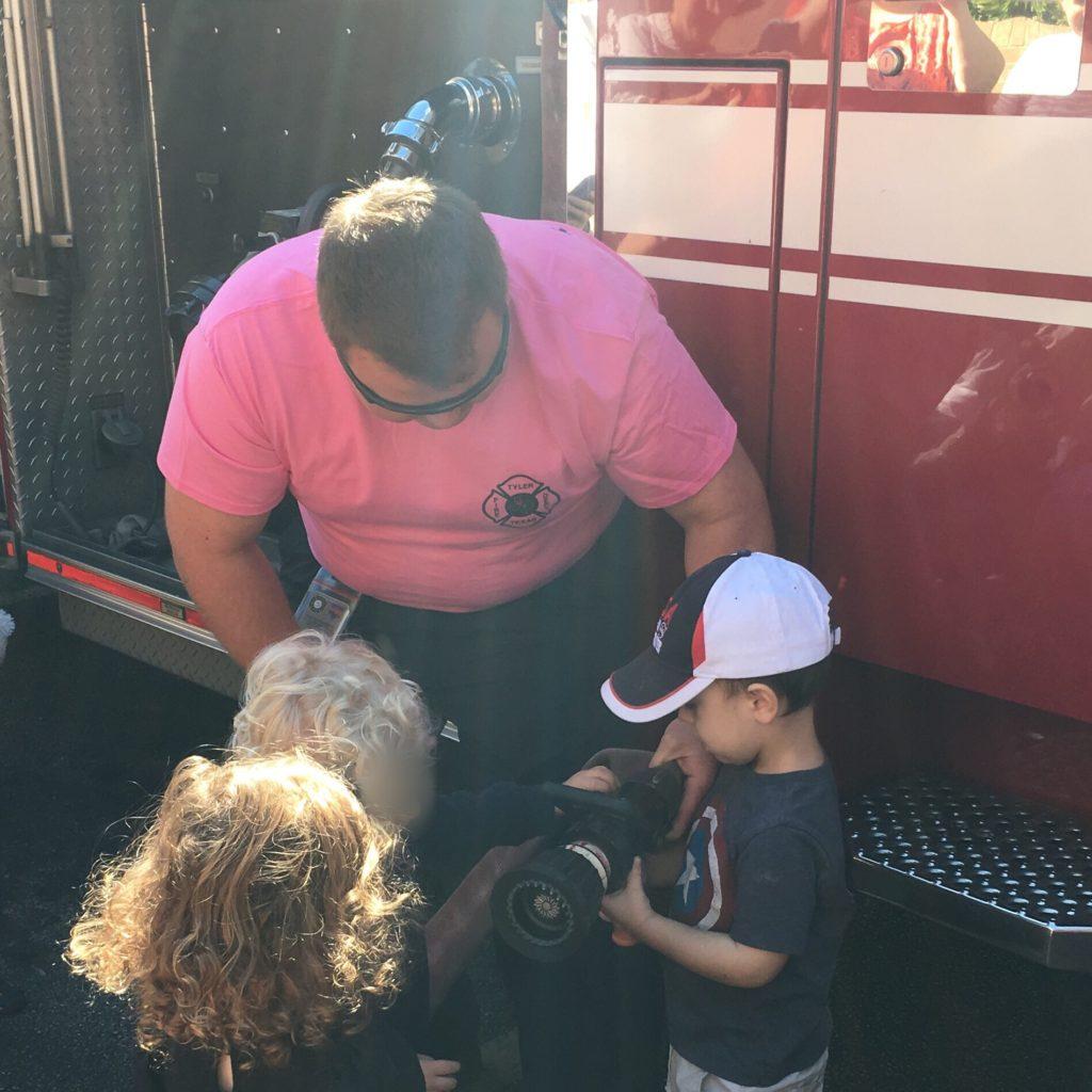 Gavin with a fireman | rainerlife.com