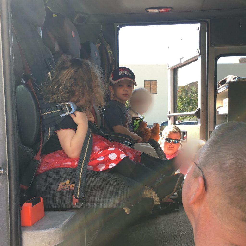 Gavin on a firetruck | rainerlife.com